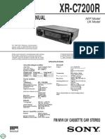 Sony Xr c7200r