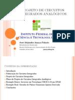 Projeto de Circuitos Integrados Analógicos Ifsp Outubro 20 2014
