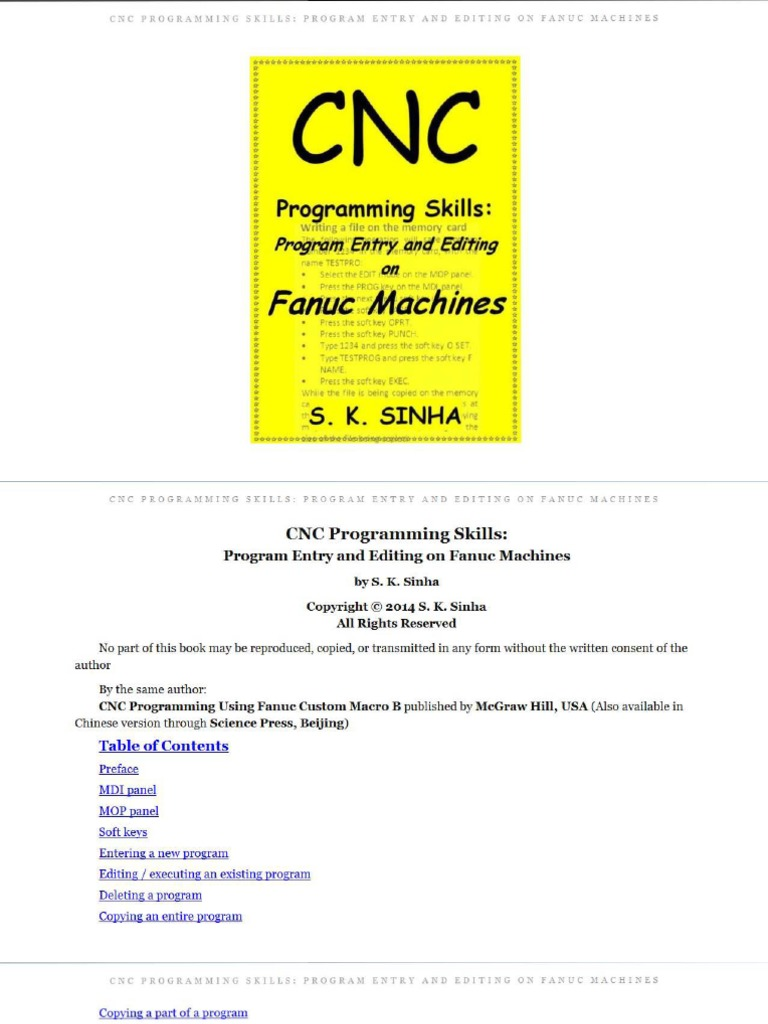 CNC Program Entry and Editing on Fanuc Machines S.K. Sinha | Bracket |  Computer File