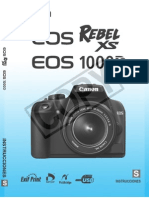 EOS Rebel XS / EOS 1000D Manual de Usuario