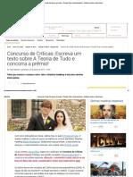 Concurso de Críticas_ Escreva Um Texto Sobre a Teoria de Tudo e Concorra a Prêmio! - Notícias de Cinema - AdoroCinema
