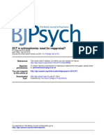 ECT in Schizophrenia Need for Reappraisal