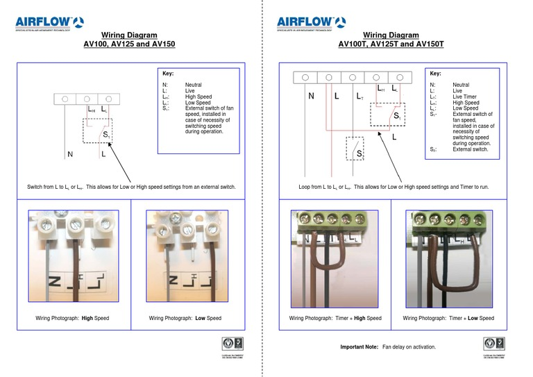 aventa wiring diagram for the airflow mixed flow in line extractor fan relay wiring diagram aventa wiring diagram for the airflow mixed flow in line extractor fans
