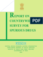 Report Cdsco Spurious Drugs