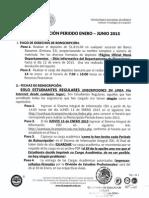 Reinscripciones Periodo Enero Junio 2015
