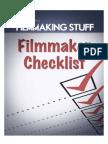 Filmmaking Checklist Filmmaking Stuff1