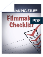 Filmmaking Checklist Filmmaking Stuff1