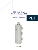 IEEE 802.11bgn Wireless Outdoor CPE User Manual_20111109