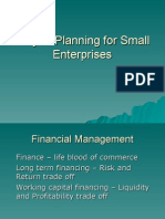 Project Planning for Small Entrerprises