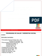 INFORME DE GESTIÓN 2014 SECRETARÍA DE SALUD Y BIENESTAR SOCIAL