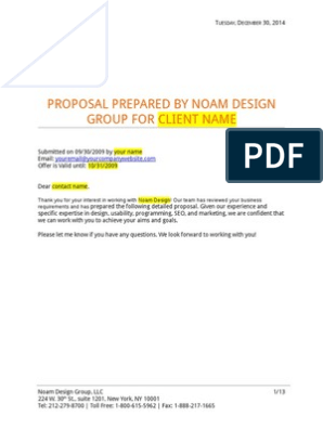 professional-web-design-proposal-template pdf | Web Application