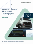 Rules on Drivers Hours and Tachographs Goods Vehicles in Gb and Europe