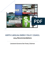 NC Energy Policy Council 2014 Recommendations