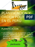 Planificacion y Orden Politico en El Peru