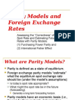06 INBU 4200 Fall 2010 Parity Models and the Foreign Exchange Rate (1)