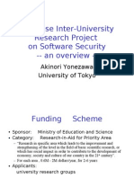Japanese Inter-University Research Project on Software Security
