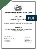 Chem Invg Prj (oxalate content in guvava)
