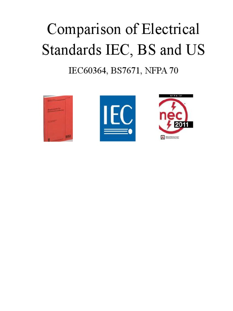 Nec and iec comparision electrical wiring electrical engineering greentooth Gallery
