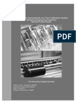 Analysis and Improvements of a Flow Calibration System