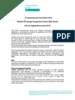 IPSF SEP Grant Call 2015