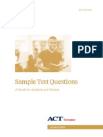 ACT Sample Test Questions