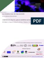 2011 a Link Between Sleep Loss, Glucose Metabolism and Adipokines (Brz J Med Biol Res)