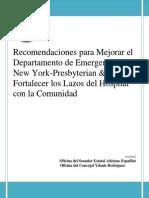 NY-Presbyterian Hospital Reporte Sobre Audiencia