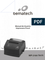 Manual do Usuário Bematech MP2100 TH FI