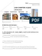 CHAPTER 4 English Test