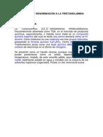 Formulación y Denominación a La Trietanolamina
