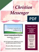February 1 Newsletter