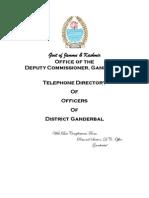 Telephone Directory Ganderbal