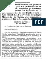 Bonificacion Guardias 55% 216 2014