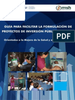 Formulacion de Proyectos de Inversion Publica para Menores