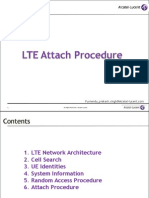 LTE Attach Procedure