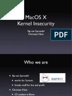 Macos Kernel In Security