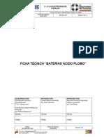 EDC GFSHA FT 005 Baterias Acido Plomo