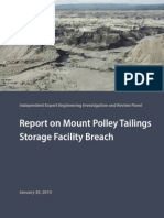 Report on Mount Polley Tailings Storage Facility Breach