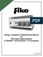 FM200 FIKE, Design Inst'n Maintenance Manual