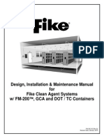 FM200 FIKE, Design Inst'n Maintenance Manual