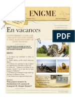 Enigmas en francés En Vacances