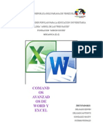 Comandos de Excel y Word