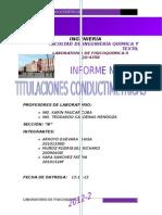 EXPERIMENTO DE TITULACIONES CONDUCTIMETRICAS