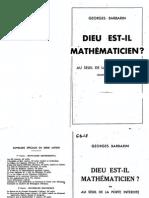 Barbarin,Georges - GB18 - Dieu Est Il Mathematicien