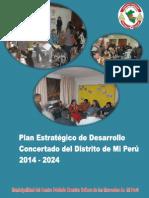PLAN ESTRATEGICO DE DESARROLLO CONCERTADO DEL DISTRITO DE MI PERU 2014 - 2024