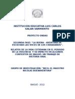Proyecto Ondas 2012. en el lcgs