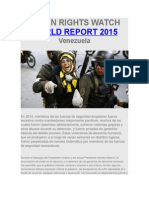 Informe Human Rights Watch 2015 Cap Tulo Venezuela