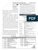 Santa Sophia Bulletin for 25 January 2015