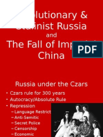 russian revolution  fall of china