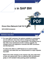User Exit en SAP BW